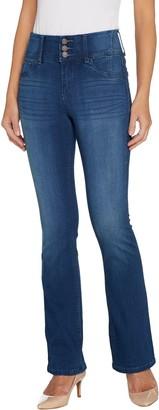 Laurie Felt Petite Curve Silky Denim Boot Cut Jeans
