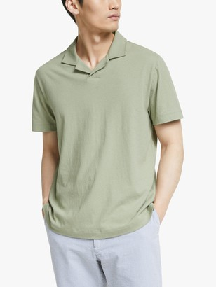 John Lewis & Partners Cotton Linen Polo Shirt