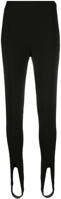 Saint Laurent High-Waist Stirrup Leggings