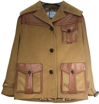 Prada Khaki Cotton Coat for Women