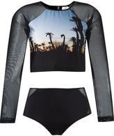 BRIGITTE cropped top and hot pants set - women - Polyamide/Spandex/Elastane - P