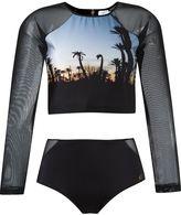 BRIGITTE cropped top and hot pants set - women - Polyamide/Spandex/Elastane - PP