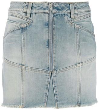 Givenchy zipped denim skirt