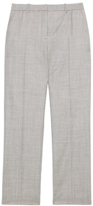 Theory Treeca Flannel Wool Cropped Pants