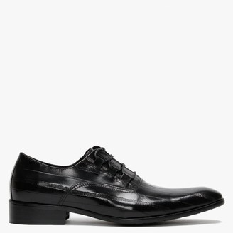 Daniel Xenoblast Black Leather Loop Lace Up Shoes