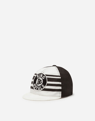 Dolce & Gabbana Baseball Cap In Poplin With Dna Patch