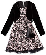 Beautees 2-Pc. Velvet Jacket & Dress Set With Coordinating Purse, Big Girls Plus (8-20)