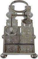One Kings Lane Vintage 4-Bottle Cut-Glass Cruet, C.1870