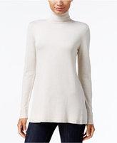 Kensie Pleated-Back Turtleneck Sweater
