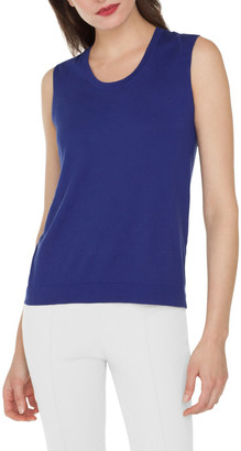 Akris Scoop-Neck Knit Cotton Tank Top