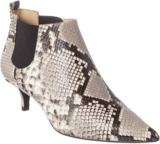 Bruno Magli M By Kisha Snake-Embossed Leather Bootie