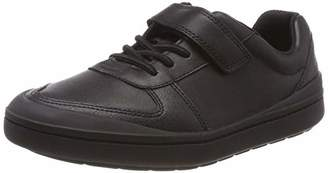 Clarks Boys' Rock Verve K Low-Top Sneakers, Black Leather