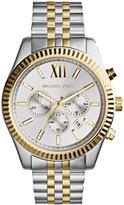 Michael Kors Men's Chronograph Lexington Two-Tone Stainless Steel Watch 45mm MK8344