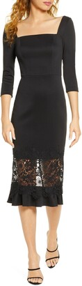 Chi Chi London Furla Lace Overlay Cocktail Dress
