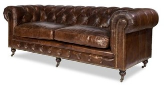 Morena Leather Chesterfield Sofa Astoria Grand