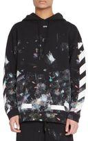 Off-White Diagonal Galaxy Brushed Sweatshirt