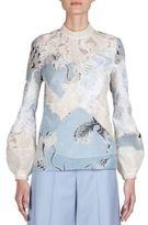 Erdem Bernice Patchwork Embroidered Top