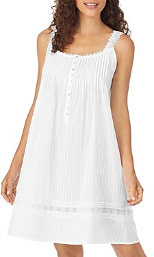 Eileen West Cotton Dobby Striped Chemise Nightgown