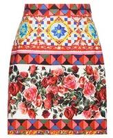 Dolce & Gabbana Printed Cotton Skirt