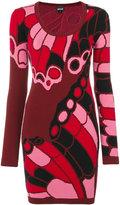 Just Cavalli intarsia knit dress