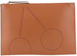 Bonpoint Perforated Cherry Clutch Bag