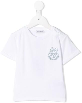 Dolce & Gabbana Kids Logo Embroidered T-Shirt
