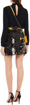 Ganni Sequined Woven Mini Skirt