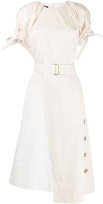 Eudon Choi Asymmetric Belted Dress