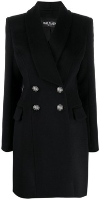 Balmain Double Breasted Tailored Coat