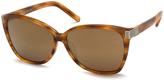 Chloé Striped Brown Cat-Eye Sunglasses