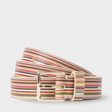 Paul Smith Women's Signature Stripe Leather Belt