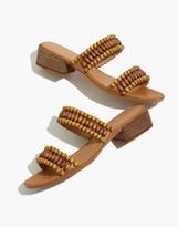 Madewell The Marianna Wooden-Beaded Slide Sandal