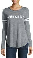 Chaser Long-Sleeve Weekend-Graphic Tee, Gray