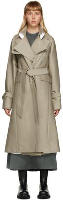Peter Do Beige Oversized Trench Coat