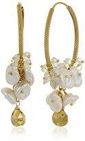 Azaara Romantic Pearl Hoop Earrings