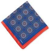 Daniel Cremieux Large Medallion Silk Pocket Square