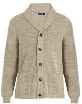 Polo Ralph Lauren Shawl-collar ribbed-knit cotton cardigan