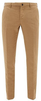 Incotex Chinolino Tailored Cotton-blend Chinos - Mens - Brown