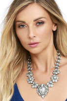 LuLu*s Penchant for Pretty Gold Rhinestone Statement Necklace