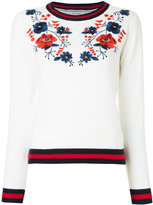 GUILD PRIME floral embroidered sweater