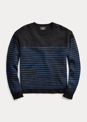 Ralph Lauren Indigo Linen-Cotton Sweater