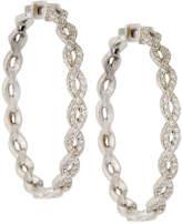 Penny Preville 18k Infinity Diamond Hoop Earrings