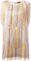 Missoni fringed detail dress - women - Polyester/Cupro/Rayon - 40