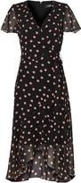 Wallis Black Polka Dot Print Wrap Midi Dress