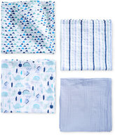 aden by aden + anais 4-Pk. Cotton Dinosaur Swaddle Blankets, Baby Boys (0-24 months)