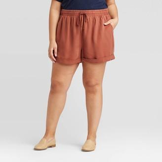 Universal Thread Women's Plus Size Mid-Rise Tie-Front Utility Shorts - Universal ThreadTM