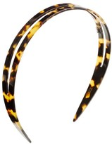 J.Crew Double headband in Italian tortoise