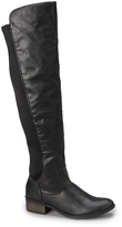 Charles Albert Black Stretch-Panel Over-the-Knee Boot