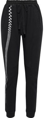 Haider Ackermann Metallic Embroidered French Cotton-terry Track Pants