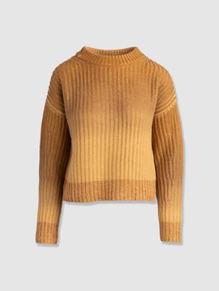 Naadam Wool Cashmere Ombre Crewneck Sweater